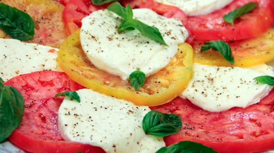 Rocco's Caprese Salad | Steven and Chris | Chef Rocco DiSpirito's recipe for caprese salad from the island of Capri boasts basil, said to stimulate the sex drive, and plump ripe tomatoes (not called