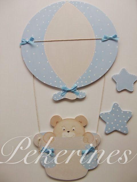 Decoraci n infantil pekerines siluetas de madera para - Abitaciones de bebes ...