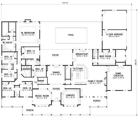 6 Bedroom Ranch House Plans New Best 25 6 Bedroom House Country Style House Plans Large House Plans 6 Bedroom House Plans