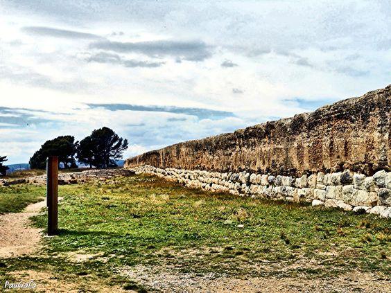 Murallas zona Anfiteatro. Empúries. Girona.