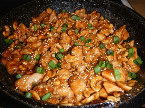 Crock pot cashew chicken, looks yummy!
