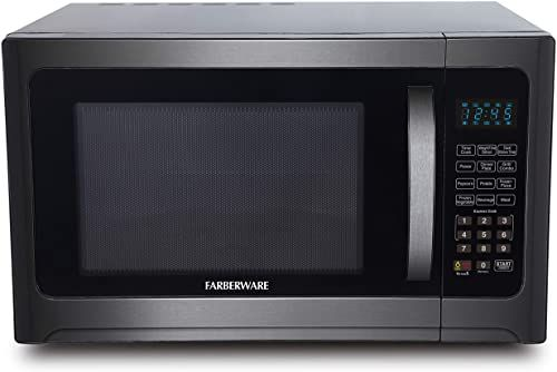 Amazing Offer On Farberware Black Fmo12ahtbsg 1 2 Cu Ft 1100 Watt Microwave Oven Grill Eco Mode Blue Led Lighting Black Stainless Steel Online Bestselle In 2020 Microwave Oven Microwave Built In Microwave