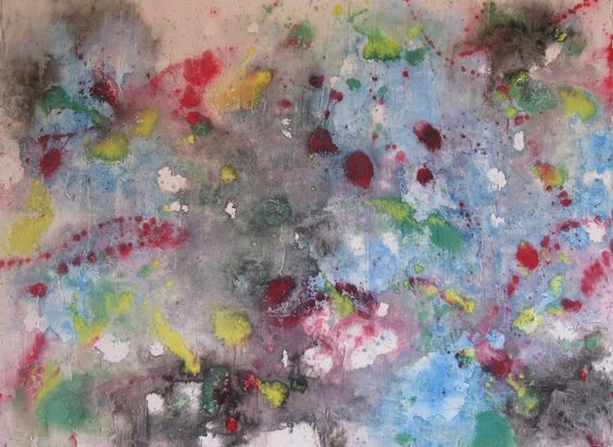 Sprinkle Infusion 24x18 Acrylic Latex Ink & Watercolor On Textured Canvas