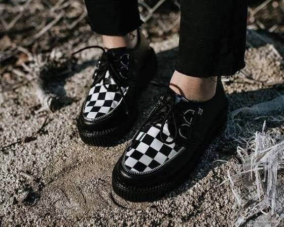 checkered creepers shoes | Creepers