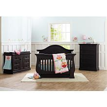 Eco Chic Dorchester 5 Drawer Dresser - Slate