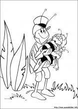 Ausmalbilder von Die Biene Maja zum Drucken | Biene | Pinterest