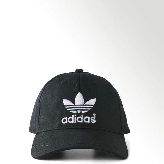 New Adidas Originals Black Classic Trefoil Baseball Cap Hat