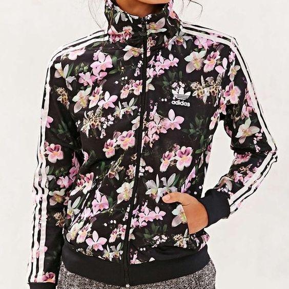 Floral Adidas Originals Orchid Track Jacket Coats