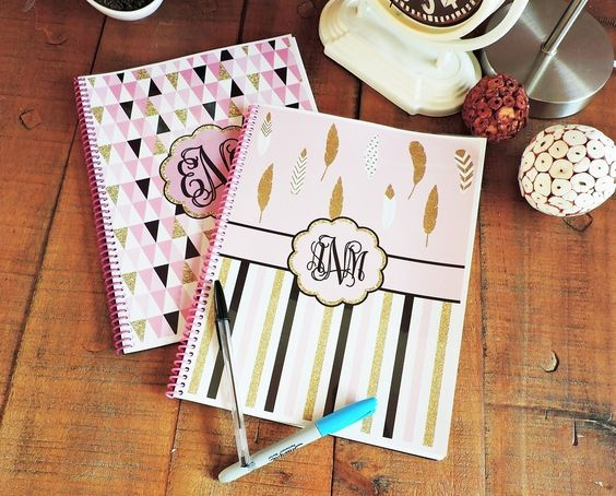 These are just what you need to organize your schedule, finances, plan meals & grocery shopping ... Keep all your must contacts & holiday cards gifting onto one place! You will love your new Personalized Home + Academic Organizer. These are custom with matching color coils; we have 20 trendy hues to make your notebook look even more adorable (most only offer in black or white coils). We will select coil color to match the design selected.