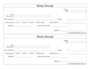 Money Receipts Captivating Receipt For Check  Zoro.blaszczak.co