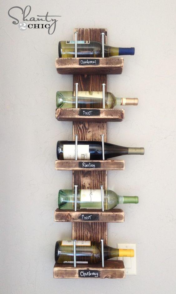 DIY Wine Rack | 15 Easy DIY Reclaimed Wood Projects