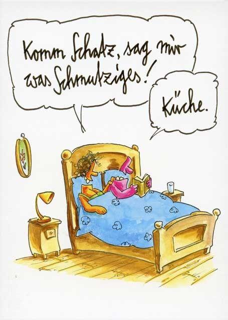 Lustige cartoon postkarten komm schatz sag mir was for Postkarten lustig