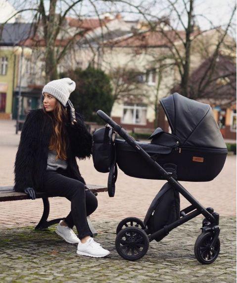 Anex E Type Noir Black Kombi Kinderwagen 2 In 1 Mit Babywanne Und Sportwagen Oder 3 In 1 Mit Autoschale Carrinho De Bebe Itens Para O Bebe Coisas De Bebe