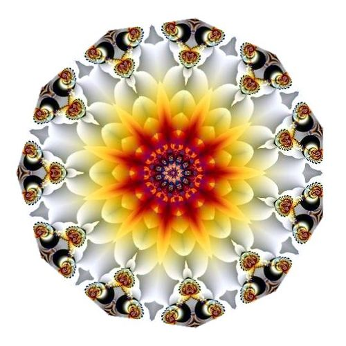 'Autumn Glow' kaleidoscope by 'Ate My Crayons' via flickr★❤★