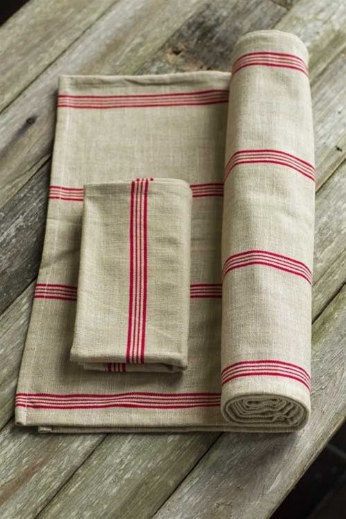 Mothology.com - Cotton Red Striped Napkin or Runner, $9.95 (http://www.mothology.com/cotton-red-striped-napkin-or-runner/)