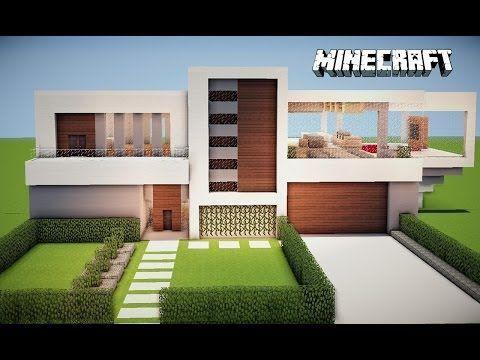 Minecraft casa moderna comece seu mundo tutorial e for Modelos de casas chiquitas pero bonitas