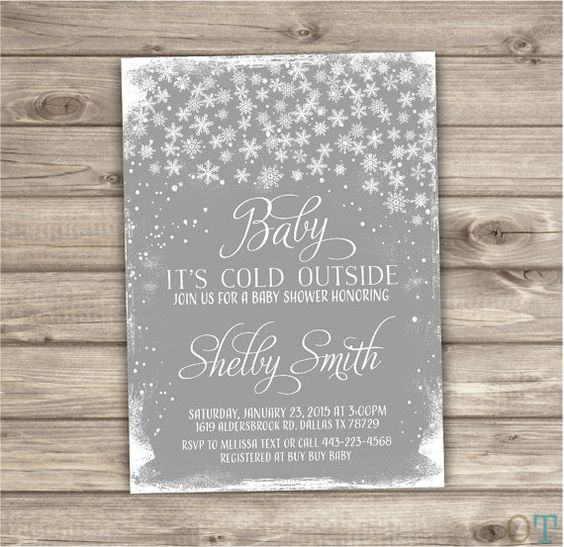 baby its cold outside baby shower invitation nv790 outside baby