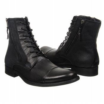 KENNETH COLE REACTION Hit Men Boots (Black) - Men's Boots - 11.0 M