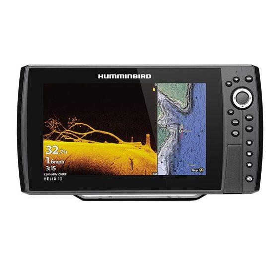 Humminbird Helix 10 Chirp Mega Di Fishfinder Gps Combo G3n W Transom Mount Transducer 410880 1 Humminbird Fish Finder Marine Radios