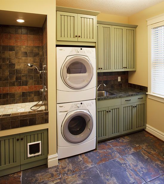 Laundry Bathroom Combos Custom Kitchen Delivers Functionality And Entertainment For A Cooking