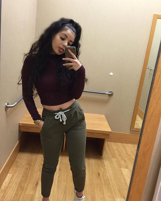 Green joggers Crop tops and What you see on Pinterest