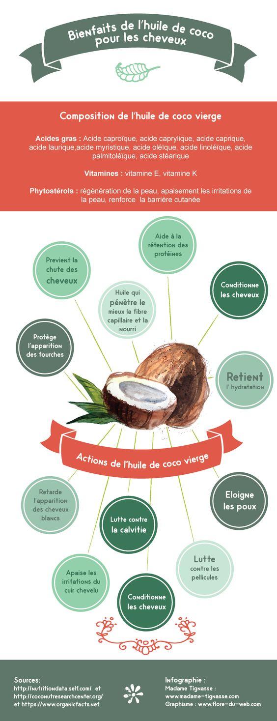 Infographuie bienfaits huiles de noix de coco:
