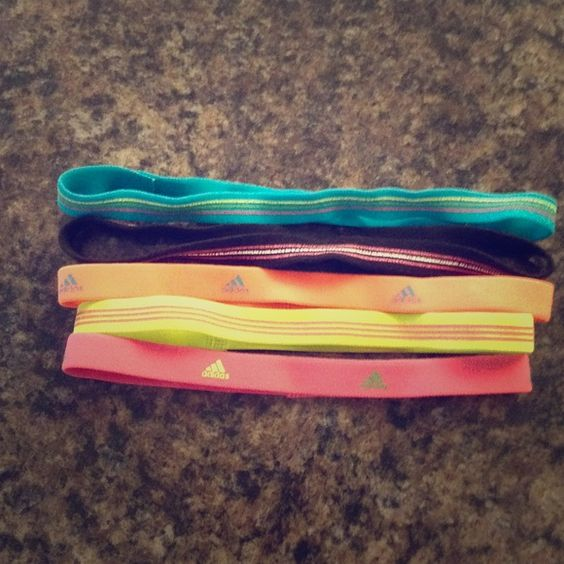 Adidas headbands 5 adidas headbands! Used, but excellent condition! Adidas Accessories Hair Accessories
