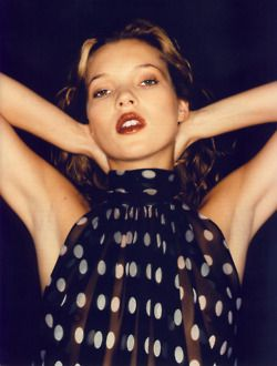 Yves Saint Laurent, 1997  Photographer: Juergen Teller. Model: Kate Moss.