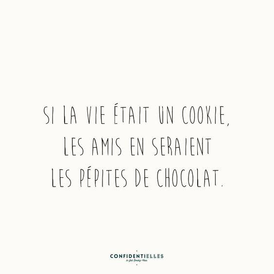 Si la vie était un cookie, les amis on serait les pépites de chocolat