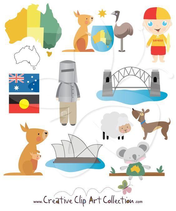 A cute Australia clip art clipart set by Creative Clip Art ...