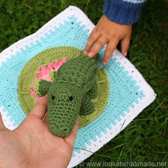 Free Crochet Patterns For Zoo Animals : Colin the Crochet Crocodile Pattern (Little Zoo Animal ...