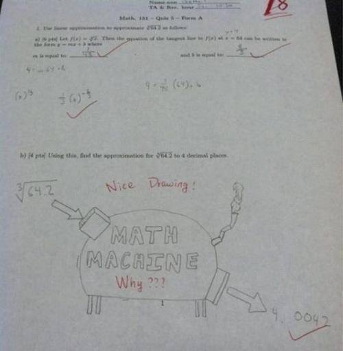 Math homework cheating machine