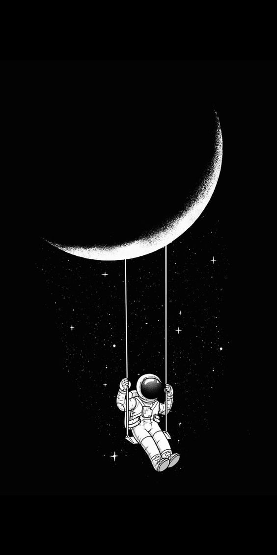 10 10 Wallpapers On Twitter Astronaut Wallpaper Space Drawings Wallpaper Space Astronaut black and white wallpaper