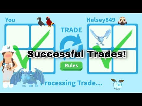 Successful Trades In Roblox Adopt Me Youtube In 2020 Roblox Adoption Success