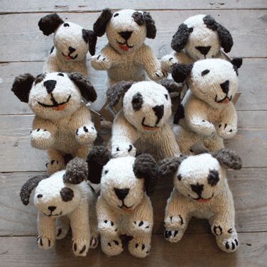 Knitted puppies...