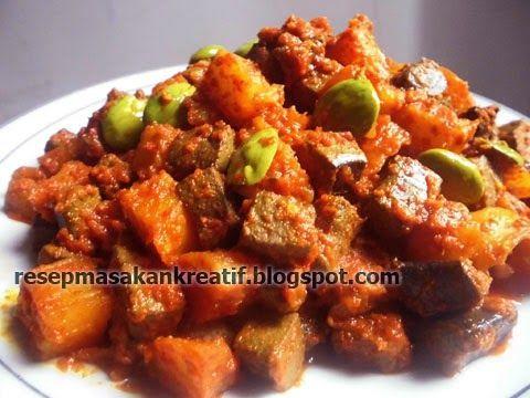 Resep Sambal Goreng Ati Sapi dan Kentang | Resep Masakan ...