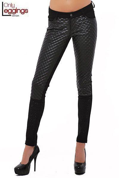 Quilted Diva Faux Leather Pants - $78.00 at OnlyLeggings.com - #onlyleggings