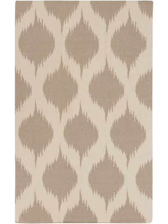 Burnout Rug, Cream and Heather Gray