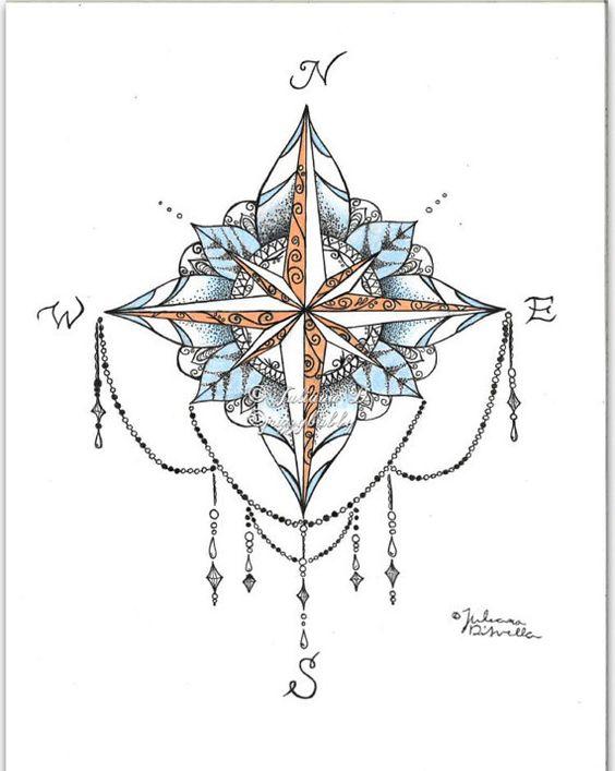 Mandala boussole par jrizzybabbyxoxo sur Etsy