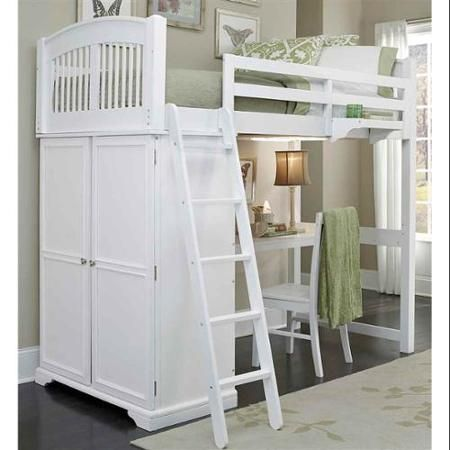 A bit pricey, but I like the wardrobe and desk under the bed--would work as the kids grow.