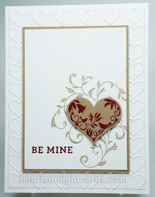 Heart's Delight Cards: Loving the Freaks!, First Sight & Bloomin' Love, Happy Heart Emb. Folder