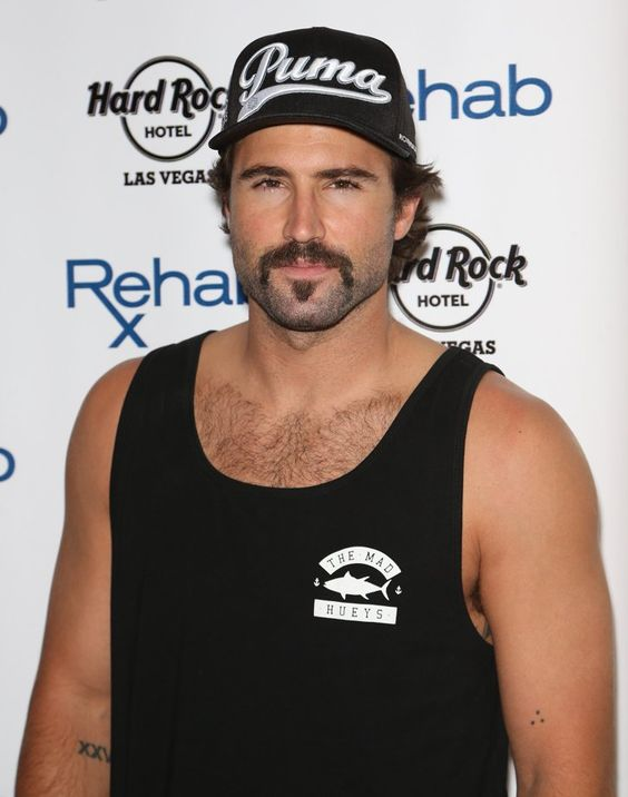 Pin for Later: The Weekend's Must-See Snaps!  Brody Jenner sported a mustache and scruff at the Hard Rock Hotel and Casino's Rehab pool party on Saturday.