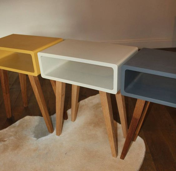 edith side table  £170, H61cm x W48cm x D29cm. From notonthehighstreet.com. Ooh, yellow! Sofa end table?