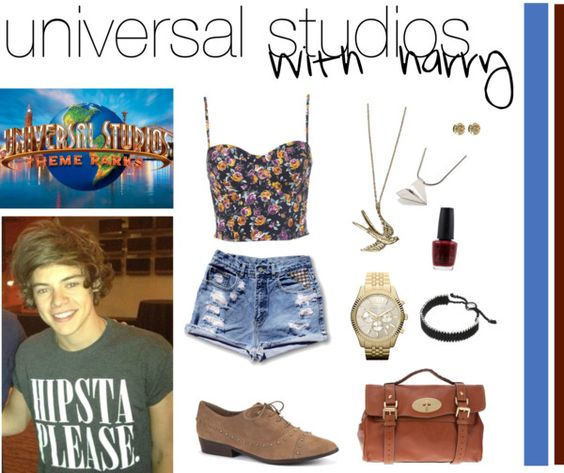 """Universal Studios with Harry"" by judymoy ❤ liked on Polyvore"