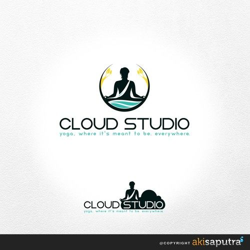 Cloud Studio Yoga Design Logo For Cloud Studio Yoga Teaches Live Online Yoga Classes In The Cloudin Logo Design Logo Branding Identity Yoga Design