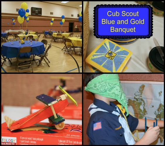 Cub scout blue and gold banquet aviator theme airplanes gliders
