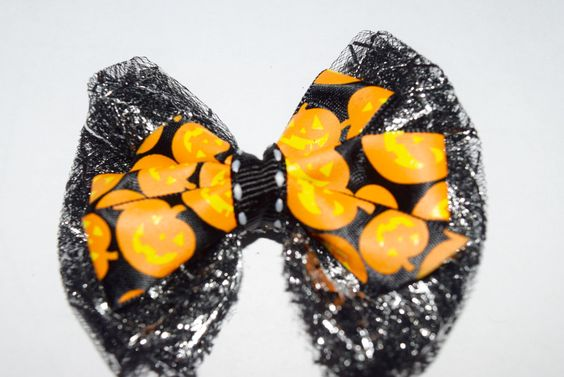 18 Inch Doll Halloween Pumpkin Tulle Hair Bow Halloween Jack O Lantern Bow American Girl Halloween Bow Wellie Wisher Bow Handmade Hair Bow by RachelsHairBowtique on Etsy