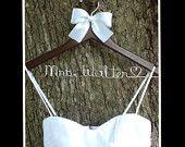 rustic wedding , personalized wedding hanger , vintage inspired wedding, bridal hanger. $16.99, via Etsy.
