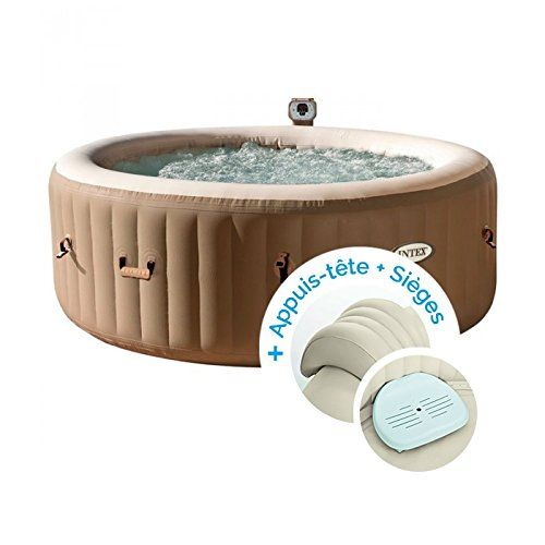 Intex Spa Gonflable Purespa Bulles 4 Personnes 2 Appuis Tete 2 Sieges En 2020 Spa Gonflable Spa Gonflable Intex Gonflable