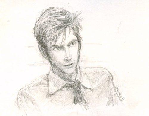 .David Tennant by burge bug. (SOOOO wish I drew this) she is SO talented!